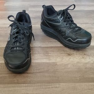Skechers black Shape-Ups, size 8